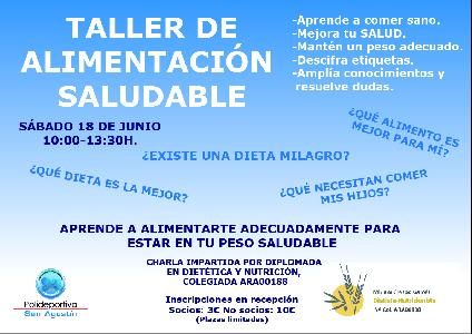 Noticia: TALLER DE NUTRICI�N SALUDABLE