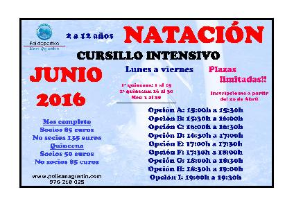 Noticia: INTENSIVOS NATACI�N JUNIO