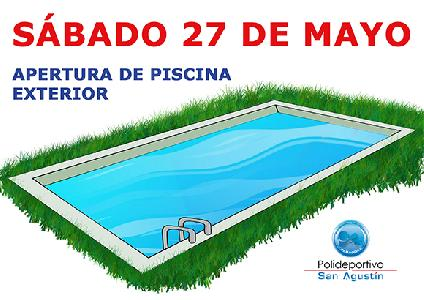 Noticia: APERTURA PISCINA EXTERIOR